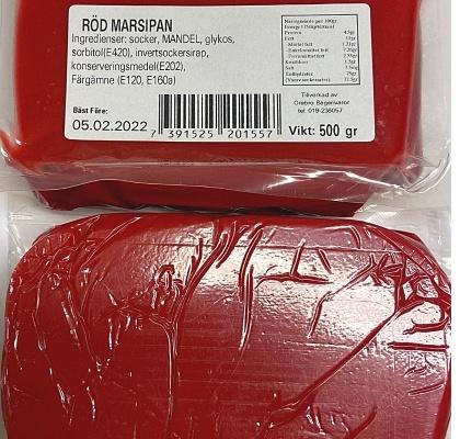 röd marsipan