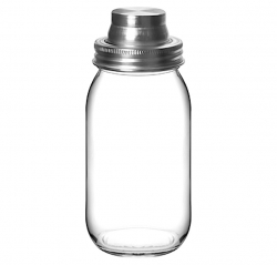 Cocktail-shaker i glas Mason Jar 0.8l