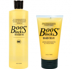 Boos Block Mystery Oil & Board Cream set