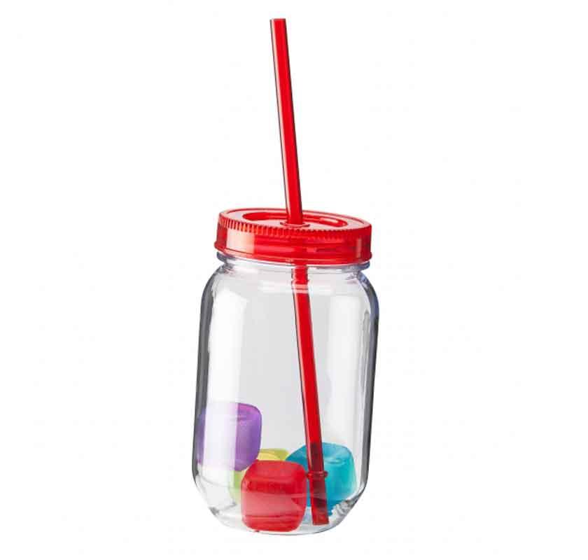 plastburk med sugrör