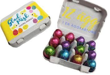 12 påskägg i äggkartong